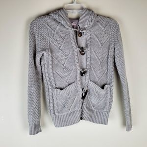 Forever 21 Beige Hoodie Cardigan Sweater - Size S